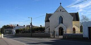 Raharney Village in Leinster, Ireland
