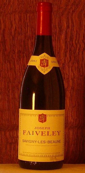 Savigny-lès-Beaune wine - A bottle of Savigny-lès-Beaune wine.