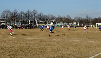 IS Halmia - IS Halmia playing Halmstads BK in a pre-season Friendly 2011.