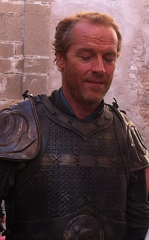 Iain Glen - Iain Glen as Ser Jorah Mormont on the set of Game of Thrones