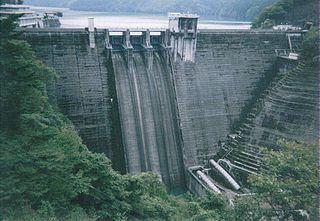Ikawa Dam dam in Shizuoka Prefecture, Japan