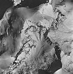 Iliamna Volcano, mountain glaciers with bergschrund, August 25, 1964 (GLACIERS 6571).jpg