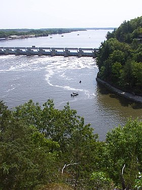 L'Illinois, vu de Starved Rock.