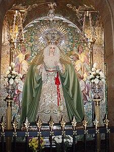 Imágen de Nuestra Señora de la Paz y Esperanza. Iglesia conventual del Santo Ángel de Córdoba