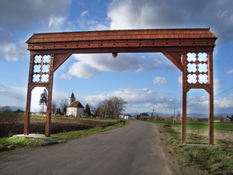 Gate - Hand-carved wooden gate in Imecsfalva, Szekely Land, Transylvania