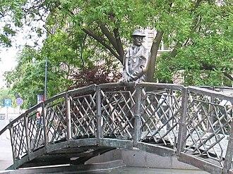 Imre Nagy - Imre Nagy, statue at Vértanúk tere (Martyrs' square) in Budapest