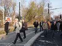 Inauguration de la branche vers Vieux-Condé de la ligne B du tramway de Valenciennes le 13 décembre 2013 (075).JPG