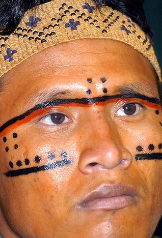 Yanomami - Traditional face painting.
