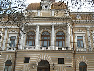 Brăila County - The Brăila County prefecture and court building from the interwar period, now the engineering building of Dunărea de Jos University.