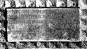 Ingram de Ketenis - 19th century sketch of Ingram's inscribed funeral monument.
