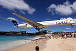 Insel Air McDonnell Douglas MD-83 ultra-low approach over Maho Beach.jpg