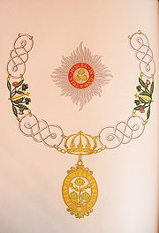 The insignia of a Knight Grand Cross of the civil division of the order.