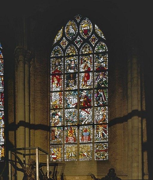 Interieur, aanzicht glas-in-loodraam, raam nummer 2 - Delft - 20367740 - RCE
