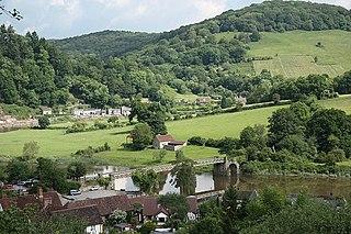 Tintern village in the United Kingdom