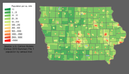 Iowa population map.png