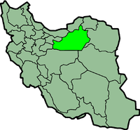 Map of Iran with सेमनान highlighted.
