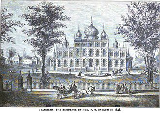 Bridgeport, Connecticut - Iranistan, the residence of P.T. Barnum, in 1848