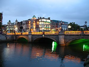 Dublin at twilight