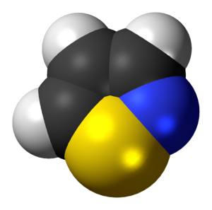 Isothiazole - Image: Isothiazole 3D spacefill