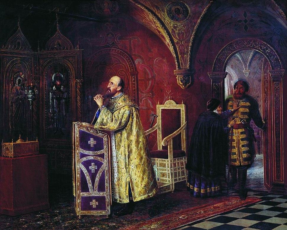 Ivan Terrible in the chapel
