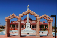 BAPS Shri Swaminarayan Akshardham, New Jersey, one of the largest Hindu temples.[62]