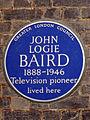 JOHN LOGIE BAIRD 1888-1946 Television pioneer lived here.jpg