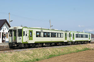 Koumi Line - Image: JRE Kiha 110 100 Aonuma Sta