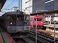 JRW 115 set K-06 + JRW 103-3500 BH-1 at Himeji Station 2015-12-19 (23490878149).jpg