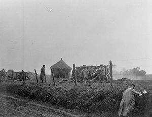 III Brigade, Royal Horse Artillery - Image: J Battery RHA at Messines Ridge