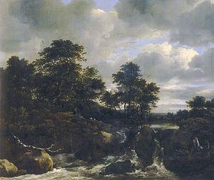 Landscape with Waterfall - Image: Jacob van Ruisdael Paesaggio con cascata