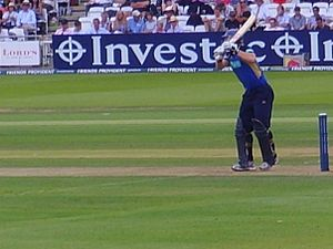 James Adams (cricketer, born 1980) - Adams batting against Sussex in the final of the 2009 Friends Provident Trophy at Lord's.