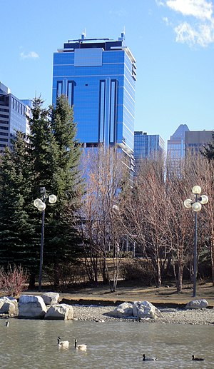 Jamieson Place (Calgary) - Jamieson Place seen from Princes Island Park