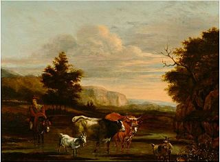 Italianate Landscape with Herders and Cattle
