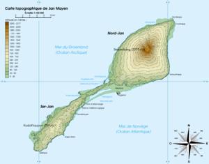Nansenflua - Map of Jan Mayen