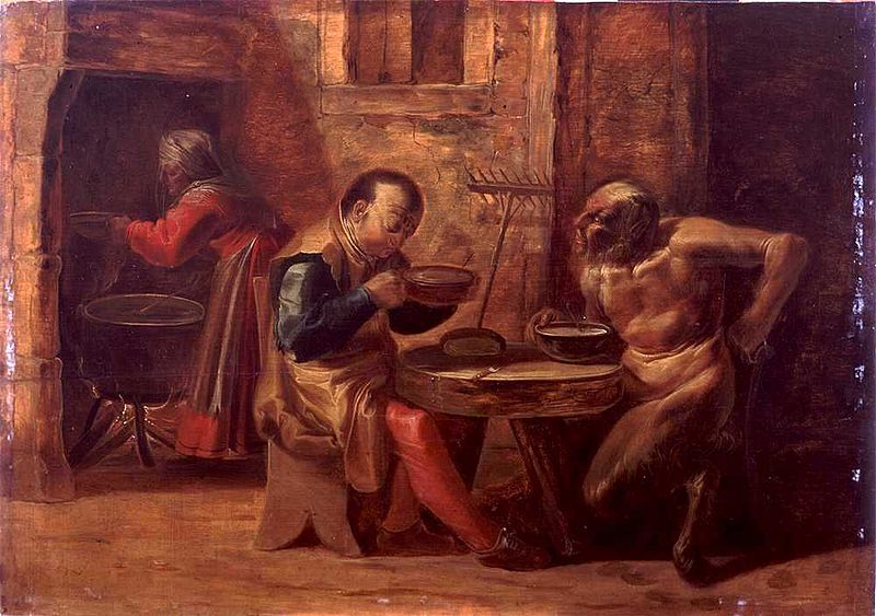 File:Jan van der Venne - Satyr and Peasant in a Tavern.jpg
