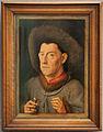 Jan van eyck (seguace), ritratto d'uomo con garofani.JPG