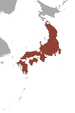 Japanese badger range