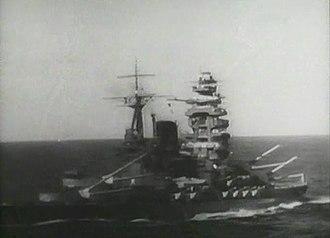 Kantai Kessen - Battleship Mutsu in 1940