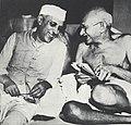 Jawaharlal Nehru with Mahatma Gandhi.jpg