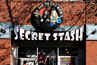 Direct market - Jay and Silent Bob's Secret Stash comic book store in Red Bank, New Jersey.