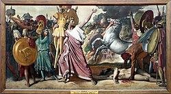 Jean Auguste Dominique Ingres: Rómulo lleva al templo de Júpiter las armas del vencido Acrón