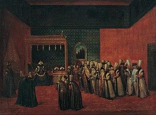 Sultan Ahmet III Receiving a European Ambassador