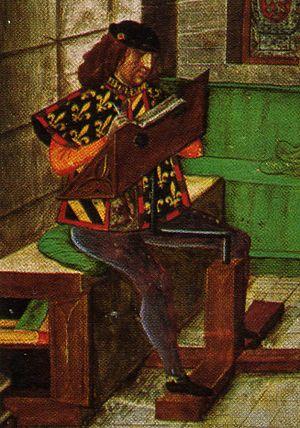 Jean Le Fèvre de Saint-Remy - Depiction of Jean le Fèvre de Saint-Remy as Toison d'Or King of Arms, dated c. 1450