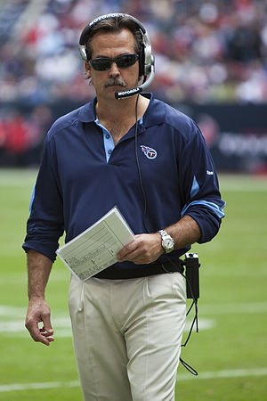 Jeff Fisher - Fisher coaching against the Houston Texans in 2010.