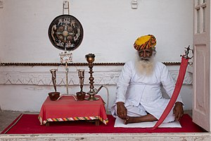 Jodhpur State - An old soldier who had been at the service of the Maharaja in the Daulat Khanat yard