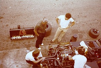 1978 Italian Grand Prix - A view of Jody Scheckter in the Wolf pits