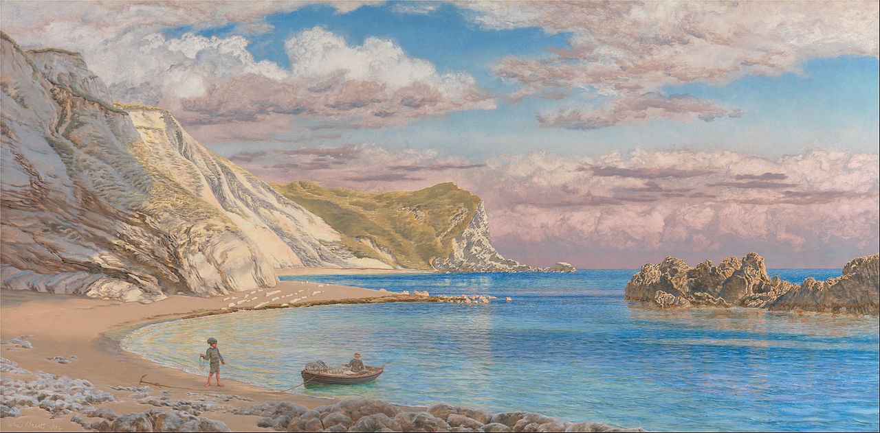 https://upload.wikimedia.org/wikipedia/commons/thumb/9/93/John_Brett_-_Man_of_War_Rocks%2C_Coast_of_Dorset_-_Google_Art_Project.jpg/1280px-John_Brett_-_Man_of_War_Rocks%2C_Coast_of_Dorset_-_Google_Art_Project.jpg