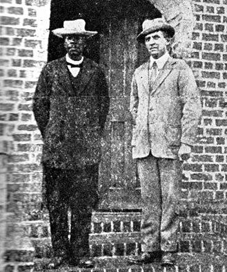 Chilembwe uprising - The last known photo of John Chilembwe (left), leader of the uprising, taken in 1914
