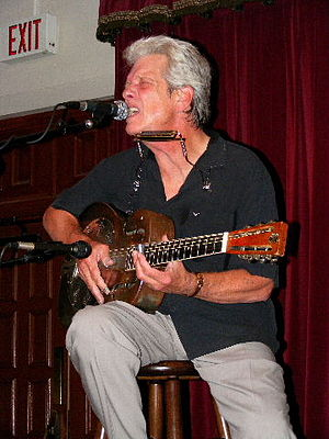 John P. Hammond - Hammond performing at the Cactus Cafe, Austin, Texas, 2008