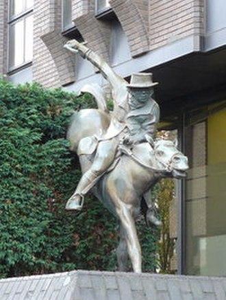 Robert Smith Surtees - Statue of Jorrocks in George Street, Croydon